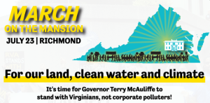 July 23: Tell McAuliffe – solar panels, not pipelines! Join the March on the Mansion