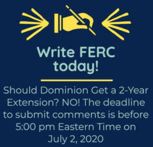 Action Needed! Please Write FERC Tell them: No Way! Time's up